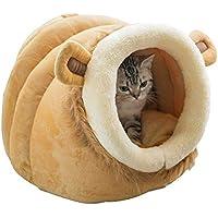 Leegoal Casa para Gatos Interior, Lujo Cama para Gatos/Perros Pequeños/Animal Doméstico, Diseño de Forma de Animal, Lavable y Cálida Igloo Cueva para Mascotas en Invierno (Pequeño, Mediano, Grande)