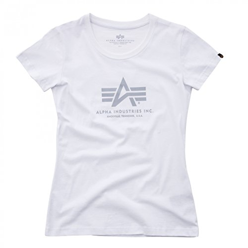 Alpha Industries Damen Oberteile/T-Shirt Logo White