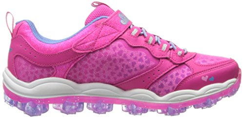 Skechers Kids Air Bungee Strap Sneaker (Little Kid/Big Kid/Toddler) Stardust Neon Pink/Periwinkle