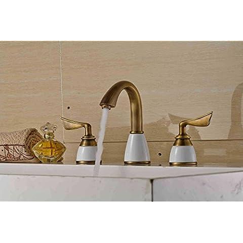 Furesnts casa moderna cucina e bagno rubinetto continentale bacino Antico Bronzo nero anodizzato oro giada sotto la conca arte kit,(Standard G 1/2 tubo flessibile universale porte)