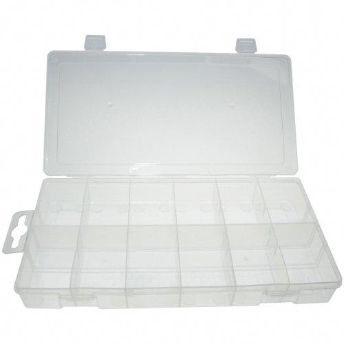 Preisvergleich Produktbild Universal leere Sortimentsbox für Kleinteilen / Sortimentskasten / Sortimentskoffer / Aufbewahrungsbox / Sortierkasten mit 12 Fach / Fächer