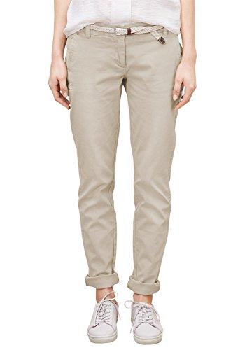 s.Oliver 04.899.73.2772  - Pantaloni da Donna, colore beige (sand stone 8072), taglia W40/L34 IT (Taglia produttore: W36 / L34 DE)