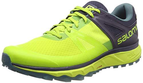 Salomon TRAILSTER GTX, Scarpe da Trail Running Impermeabili Uomo, Verde (Acid Lime/Graphite/Hydro), 43 1/3 EU