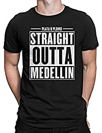 JUNQUANFU Hombre Straight Outta Medellin Narcos Inspired Camiseta/T Shirt