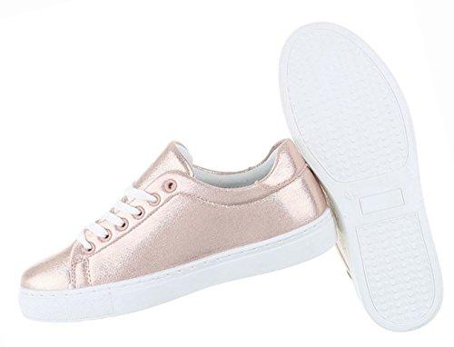 Damen Schuhe Freizeitschuhe Sneakers Turnschuhe Sportschuhe Schwarz Rosa