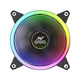Ant Esports SUPERFLOW 120 Auto RGB 1500 RPM Case Fan/Cooler (Black)