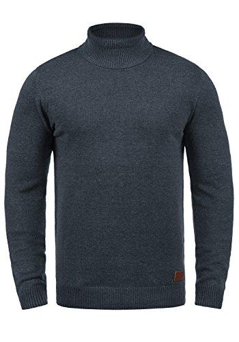 Blend Latif Herren Strickpullover Feinstrick-Rolli Rollkragenpulli Pullover Mit Rollkragen, Größe:XXL, Farbe:Navy (70230) - Gerippt Wolle Blend