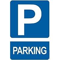 Parking - CARTEL RESISTENTE PVC - Señaletica de aviso - ideal para colgar y advertir