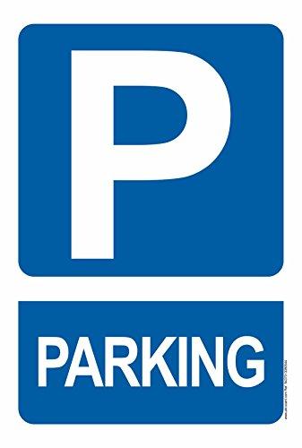 Pack 4 PVC-Plakat. Beschilderungen Parking
