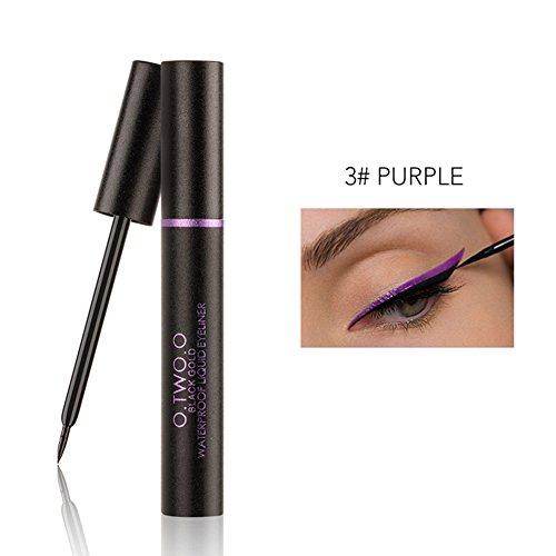 Langlebiges Wasserdichtes Flüssiges Eyeliner Bleistift Augen Make-up Kosmetisches Werkzeug(Lila ) -