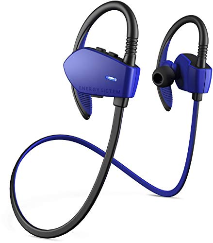 Energy Sistem Sport 1 - Auriculares Deportivos in-Ear (Sistema Secure-fit, Bluetooth, sin Cable) Azul