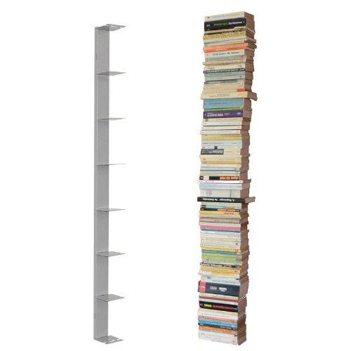 booksbaum-single-wand-gross-silber-2tlg-best-aus-halterung-einlegeboden
