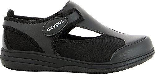 Ligero, zapatos de enfermería lavables Oxypas Medilogic 'caramelo' diseñado para profesionales médicos (UE 42, Negro)