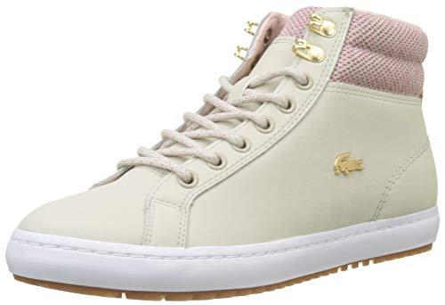 Lacoste Damen Straightset Insulatec3182 Caw Sneaker, Beige (Nat/Wht 7f8), 39 EU