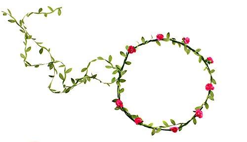 Butterme Böhmische Hochzeit Blumen Krone Blumen Kranz Stirnband Blumen Girlande Stirnbänder für Festival Hochzeit Strand-Mehrfarbig zur Verfügung