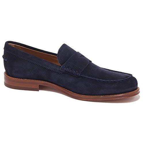 4236Q mocassino uomo TOD'S scarpa blue suede shoe men Blu