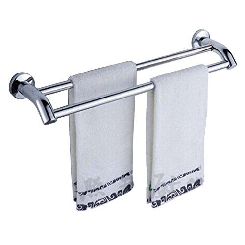 PHOEWON Handtuchstange Edelstahl Multifunktion Handtuchstangen Bad Wand Handtuchhalter mit Haken für Badezimmer, Küche