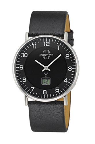 Master Time Funk Quarz Herren Uhr Analog-Digital mit Leder Armband MTGS-10560-22L