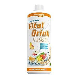 Best Body Nutrition - Low Carb Vital Drink, Multifrucht, 1000 ml Flasche
