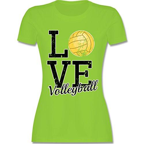 Shirtracer Volleyball - Love Volleyball - Damen T-Shirt Rundhals Hellgrün