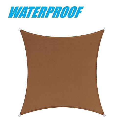 ColourTree Sonnensegel, wasserfest, strapazierfähig, 100% Blockage, 220 g/m², Braun
