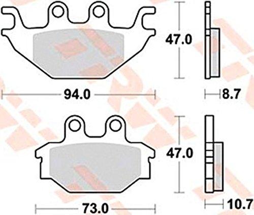 TRW Automotive AfterMarket MCB760 Bremsbelag für Motorräder