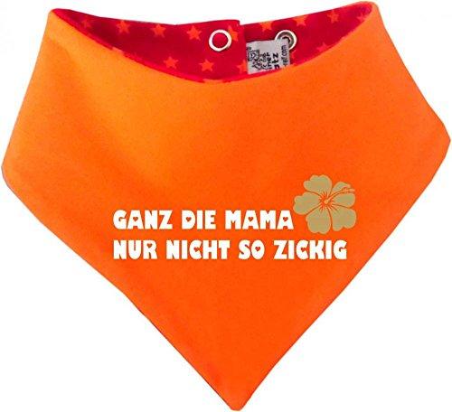 Kinder Wendehalstuch Sternchen (Farbe rot-orange) (Gr. 2 (74-98) Ganz die Mama nur nicht so zickig