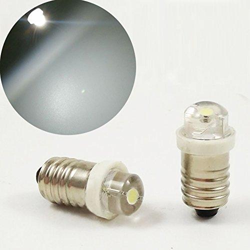 6V 0,5W 0,75W weiß 6000K LED Leuchtmittel Taschenlampe Scheinwerfer Arbeiten Kopf Lampe Taschenlampe Arbeiten Tools, 4pcs, 4.5V ()
