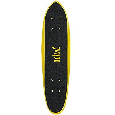 MPI die Fiberglas schmal Schwanz Skateboard Deck mit Grip, 17,1x 64,1cm gelb