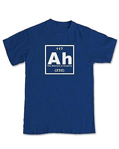 Ah 'The Element of Surprise' Geek Science T-Shirt - (Navy) 2XL