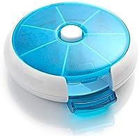 Automatische Dreh runde Form Medizin Pill Box Compact 7 Tage wöchentlich Reisemedizin Halter Tablet-Speicher-Fall... preisvergleich bei billige-tabletten.eu