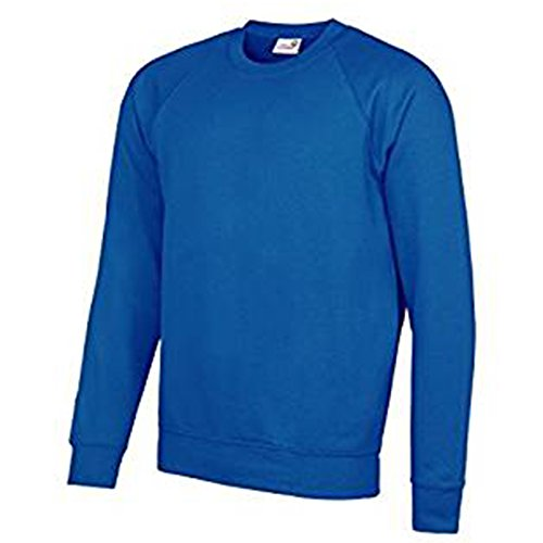 AWDis Herren Modern Sweatshirt Academy Royal Blue XXL (Blue Distressed Crewneck)