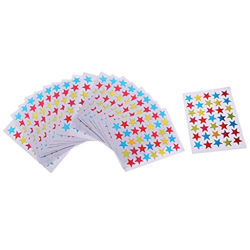 B Baosity 100 Blatt Aufkleber Sterne bunt selbstklebend Sticker Sticker Markierungspunkte für DIY Foto - Mehrfarbig, 1,5 cm gemischt