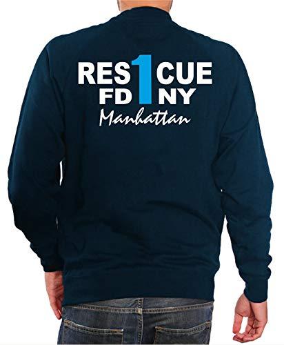 feuer1 'Sweat-shirt Bleu marine,\