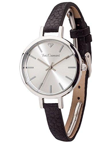 Yves Camani Nonette - Reloj para mujer, color plateado / negro