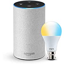 Echo (White) bundle with Wipro 9W smart white bulb