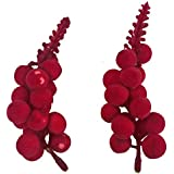 Decoration Craft Pack of 2 bunch of 14 Decorative Plastic Cherry