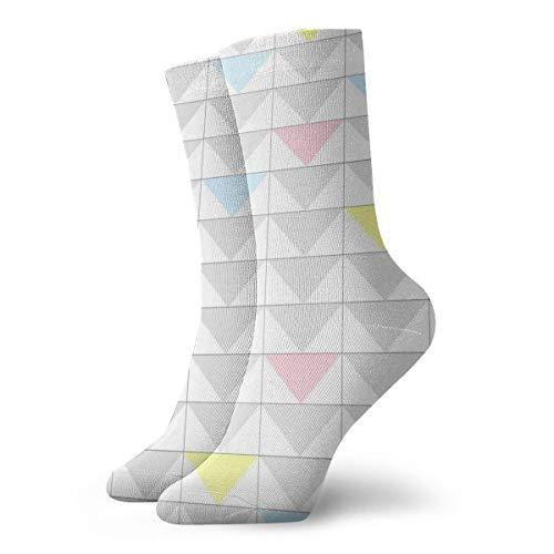 OUYouDeFangA graue Triangelsocken für Erwachsene, Baumwolle, gemütlich, kurz, für Yoga, Wandern, Radfahren, Laufen, Fußball, Sport (Mädchen-liner Graue)