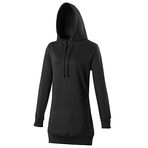 Reliant Girlie Longline Hoodie, Sweat-Shirt à Capuche Femme Rose - Rose fluo