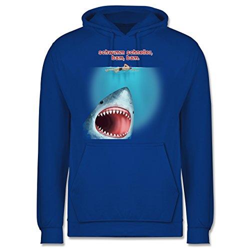 Wassersport - Schwimm schneller, bam, bam. - Männer Premium Kapuzenpullover / Hoodie Royalblau
