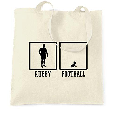 Rugby Sacchetto Di Tote Rugby contro gioco del calcio ... Baby Sport Scrum Gioco Natural