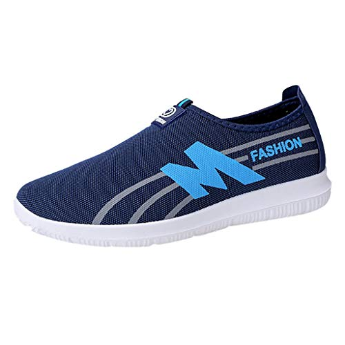 iHENGH Shoes Men 2019 Nuovo Fashion Pelle Sneakersscarpe Pantofola Pu Running Sport per Uomo Scarpa da Ginnastica Ragazzo Scarpe Moda Casual Estate Nero