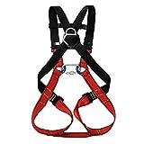 Aoneky imbracatura di sicurezza anticaduta, Full Body Rock climbing imbracatura per bambini, 1002BK7748, redblack