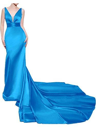 Missdressy - Robe - Dos nu - Femme Bleu