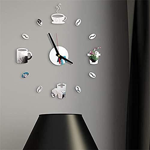 Art Deco 3D Diy Römische Ziffern Acrylspiegel Wandaufkleber Uhr Home Wanddekoration Aufkleber