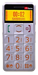 TTfone Mercury TT002 - Big Button Easy to use Senior Mobile Phone with SOS button and large easy to read display - Silver