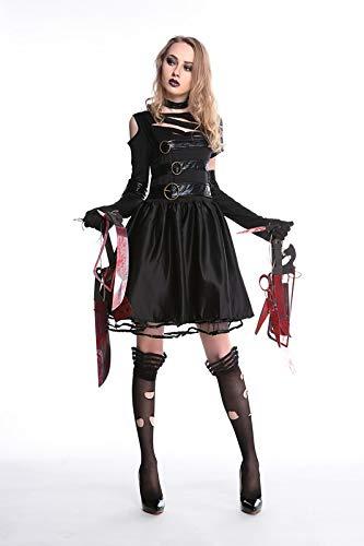 GYH Miss Edward Scissorhand Kostüm Frauen Kostüm Cosplay Damen Kostüm Für Fasching Karneval Halloween