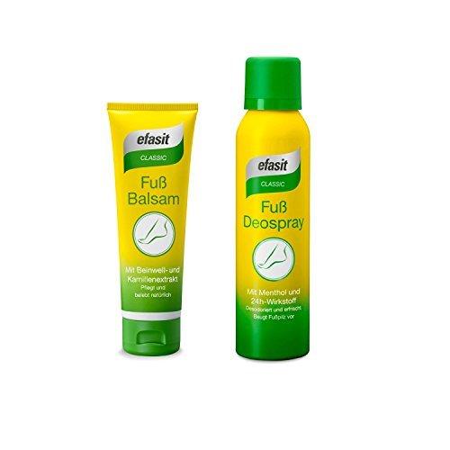 efasit CLASSIC Set Fuß Deo Spray 150 ml und Fuß Balsam 75 ml