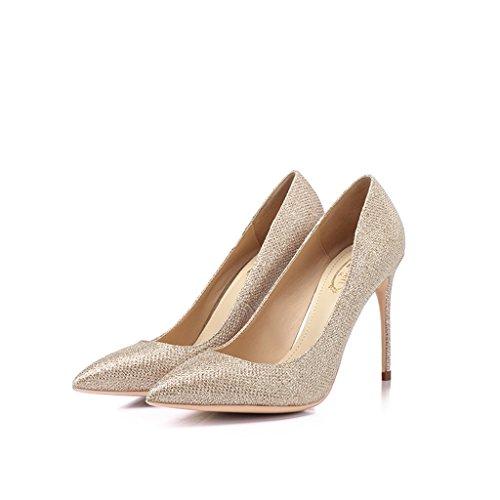 0811dbc2d077eb Single shoes - female Scarpe col tacco alto Stiletto pumps 10cm Paillettes  Sexy Banchetto Scarpe da