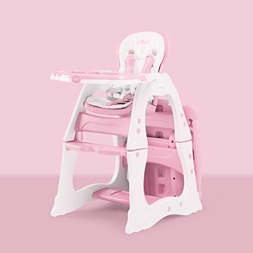 Brisk- Multifunktion Teilt Essstuhl Für Babys Esstisch Lerntisch Für Kinder Babystuhl Schemel ( Farbe : Milkshake powder ) (Hochstuhl Abdeckung Sommer)